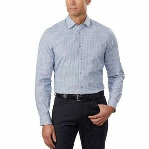 Calvin Klein Mens Dress Shirt Light Blue Slim Fit